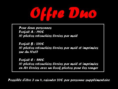 OFFRE DUO 2016