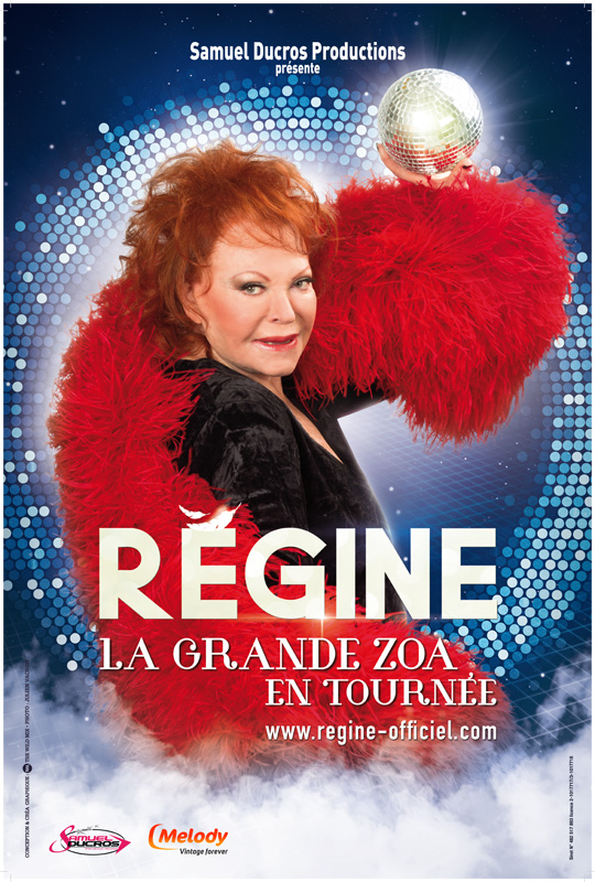 Régine – L'affiche du spectacle @Paris
