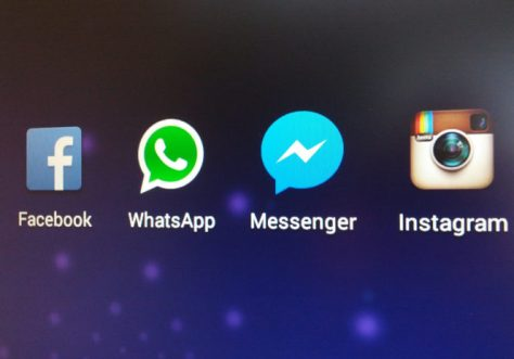 app facebook instagram messenger and whatsapp icons capture mobile